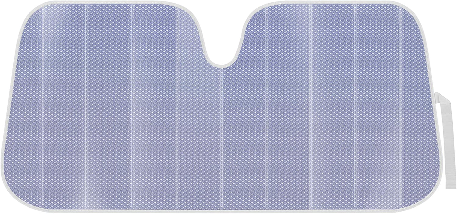BDK Lavender Shine, Front Windshield Sunshade-Accordion Folding Auto Shade for Car Truck SUV-Blocks UV Rays Sun Visor Protector-Keeps Your Vehicle Cool- 58 x 27 in