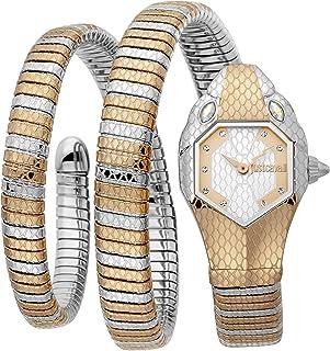 Just Cavalli Signature Snake Serpente Doppio Stainless Steel Watch JC1L168M0085 - Quartz Analog for Women in Stainless Ste...