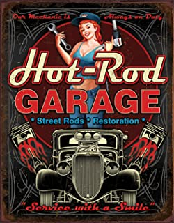 Desperate Enterprises Hot Rod Garage - Pistons Tin Sign, 12.5