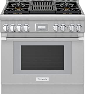 Thermador PRG364WLH Pro Harmony 36 Inch Wide 5.1 Cu. Ft. Slide In Gas Range with 4 Burners and Grill