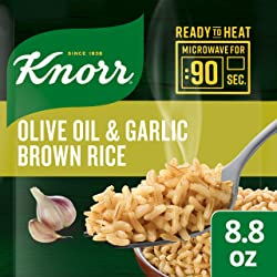 Knorr Ready to Heat Meal Maker for a quick and easy side Olive Oil and Garlic Brown Rice ready in ju