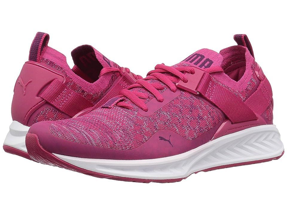 Puma Kids IGNITE evoKnit Lo (Big Kid) (Love Potion/Puma White) Girls Shoes