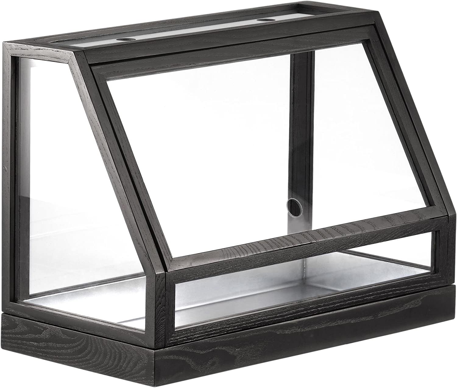 Design house stockholm Greenhouse Mini Conservatory ash dark grey lacquered only for indoor use 48x34x24cm