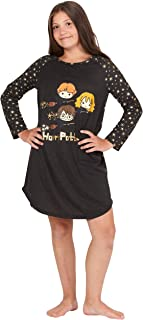 Hermione Chibi Charms Logo House Crest Raglan Pajama Gown