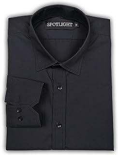 SPOTLIGHT Men's Solid Slim Fit Full Sleeve Formal Shirt
