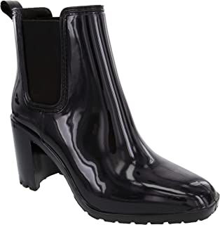 London Fog Womens Prite High Heeled Rain Boot