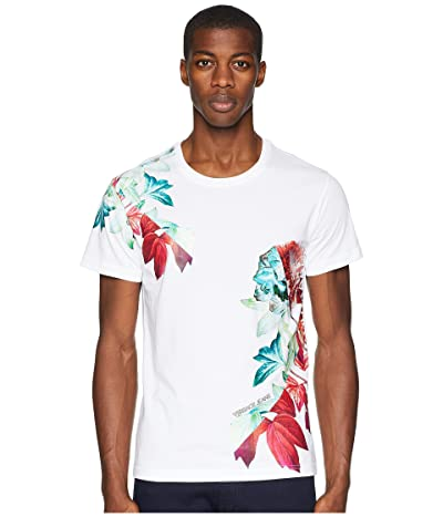 Versace Jeans Couture Exploded Floral Graphic T-Shirt (White) Men