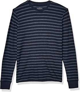 Lucky Brand Men's Long Sleeve Crew Neck Striped Thermal Shirt