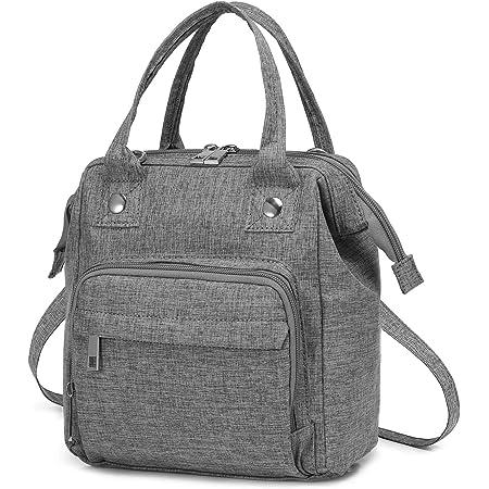 LOVEVOOK Tasche Klein Canvas Umhängetasche Damen Handtasche Klein Crossbody Tasche Messenger Bag Schultertasche rucksack elegant, Grau