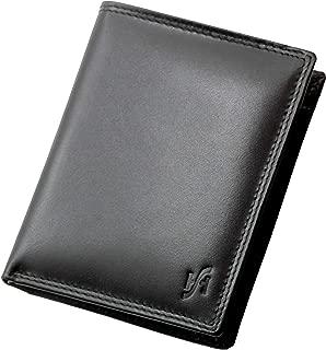 105 Hommes Luxe Souple Cuir Véritable Portefeuille carte de crédit titulaire noir