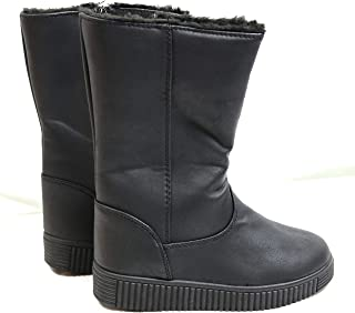 Bobbie Brooks Girls Black Faux Leather Calf high Length Boots Youth Size 2