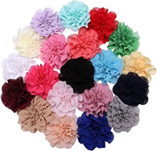 inSowni 20 Pack Alligator Hair Clips Barrettes Big Chiffon Peony Flower Hairbow Accessories for Baby Girls Toddlers Kids W...