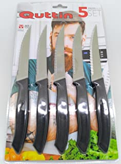 comprar comparacion Juego 5 Cuchillos CHULETEROS Sierra 11CM QUTTIN PRACTIC Blister