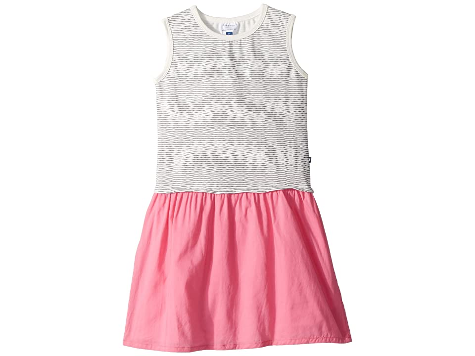 Toobydoo Nautical Stripe Tank Dress w/ Contrast Pink Skirt (Toddler/Little Kids/Big Kids) (Pink) Girl