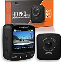 WheelWitness HD PRO Plus Premium Dash Cam w/WiFi & GPS, iPhone Android Compatible, Sony Exmor Sensor, Dashboard Camera G Sensor, Night Vision for Uber Lyft Trucks and Semis