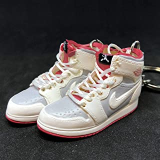 Pair Air Jordan I 1 Retro Hare Bugs Bunny WB OG Sneakers Shoes 3D Keychain Figure 1:6