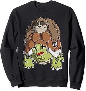 Gag Sloth Riding A Turtle Sweatshirt