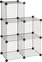 Safco Products Wire Cubes Organizer, 5279BL, Black, Easy-to-Assemble, Welding Open Wire Construction