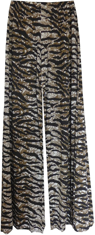 Womens Wide Leg High Waist Stretch Pants Tiger Stipes Palazzo Baltimore [Alternative dealer] Mall XX