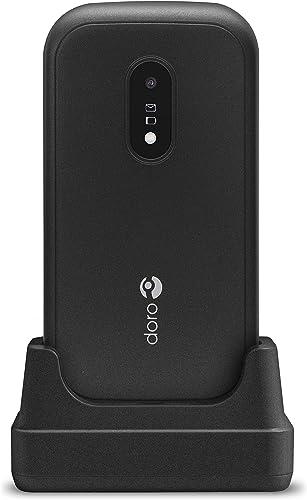 Doro 6040 Téléphone Portable 2G à Clapet Débloqué pour Seniors avec Grandes Touches, Touche d'Assistance avec GPS et ...