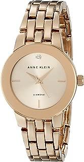 Anne Klein Women's AK/1930RGRG Diamond-Accented Dial Rose Gold-Tone Bracelet Watch
