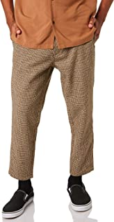 Banks Men's Downtown Houndstooth Check Mens Pants Cotton Polyester Brown