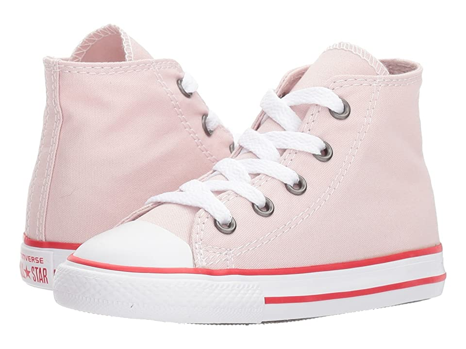 Converse Kids Chuck Taylor(r) All Star(r) Core Hi (Infant/Toddler) (Barely Rose/Enamel Red/White) Girls Shoes