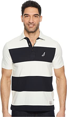 Nautica - Short Sleeve Rugby Stripe Polo