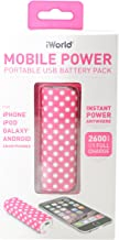 iWorld Mobile Power Portable USB Battery Pack Pink