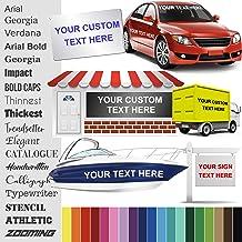 "Design Your Own (2"" High) Custom Vinyl Sticker | Car Window, Boat, Yeti Lettering JDM Automotive Windshield Graphic Name L..."
