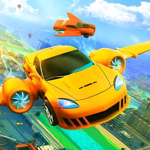 Real Flying Car Driving Simulator Game 3D