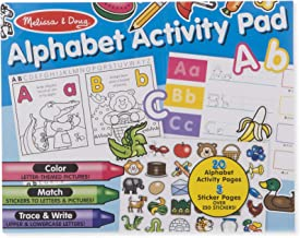 Melissa & Doug Alphabet Activity Sticker Pad for Coloring, Letters (250+ Stickers)