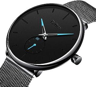 Bestn Mens Business Analog Quartz Wrist Watch Independent Second Hand Dial Design with Mesh Watch Band