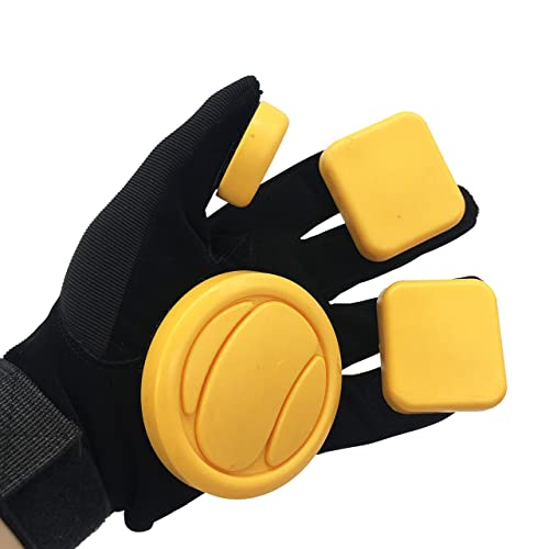 Longboard Skating Slide Gloves with Perforated Leather Fingers and Adjustable Neoprene Wrist Cuff Delrin Dish-Shaped Puck Rayne Idle Hands Leather Slide Gloves M