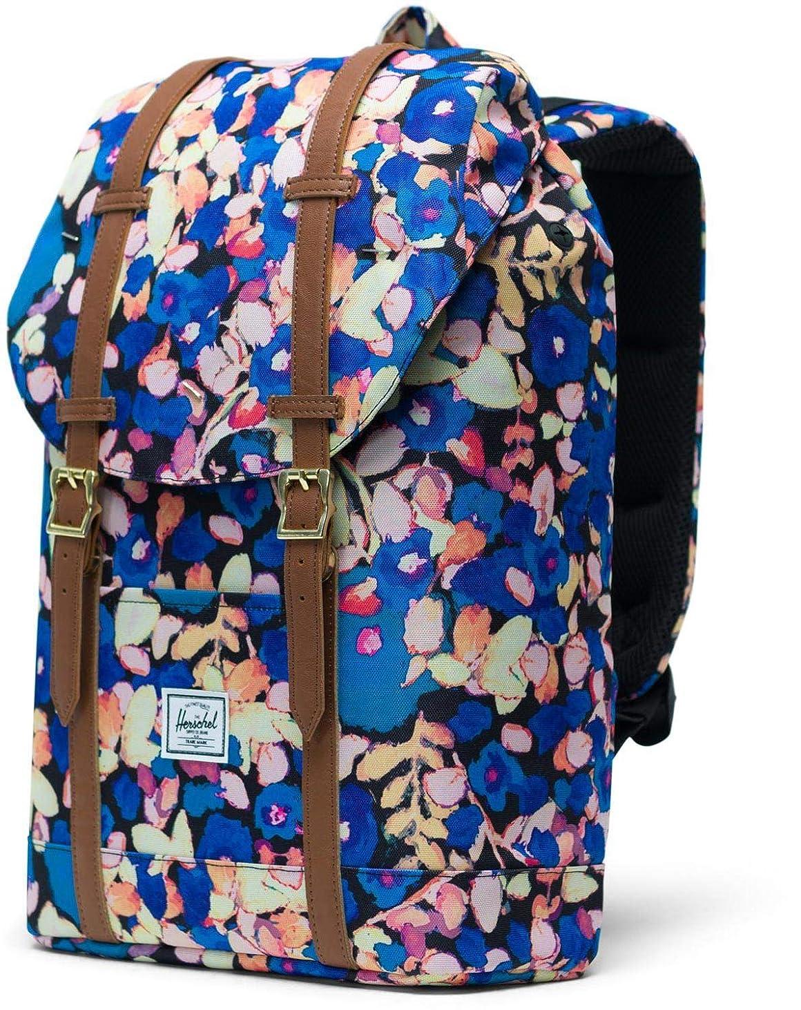 ピアノ処方する製造業Herschel Supply Co. バックパック, Painted Floral/Tan Synthetic Leather, One Size
