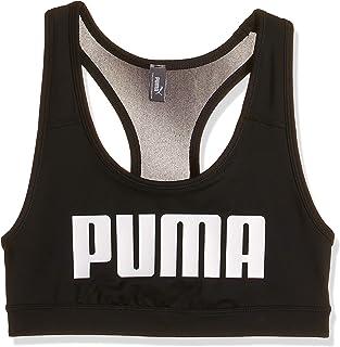 حمالة صدر رياضية ميد امباكت 4 كيبس للنساء من بوما، لون اسود أسود XS