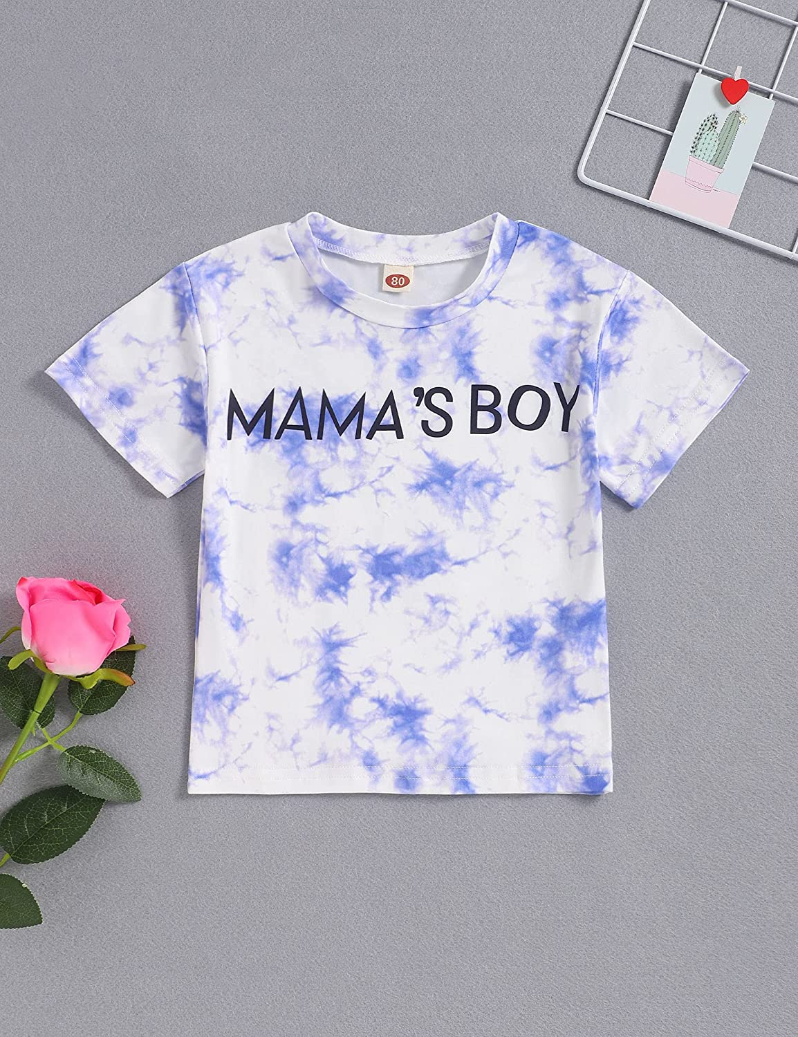 Toddler Baby Girl Tie Dye Clothes Off Shoulder Tops+Shorts Summer Outfits Set