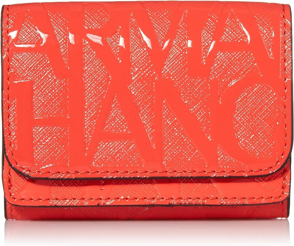 armani exchange mini wallet portafoglio da donna in pelle sintetica 948482