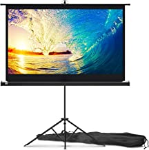 Projector Screen with Stand 60 inch - Indoor and Outdoor Projection Screen for Movie or Office Presentation - 16:9 HD Premium Wrinkle-Free Tripod Screen