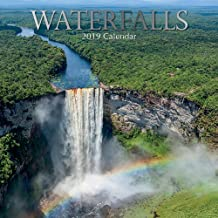 2019 Wall Calendar - Waterfalls Calendar, 12 x 12 Inch Monthly View, 16-Month, Travel and Destination Theme, Includes 180 Reminder Stickers