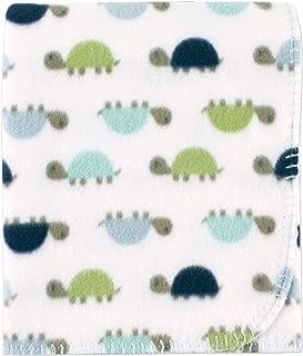 Luvable Friends Printed Fleece Blanket, Turtles