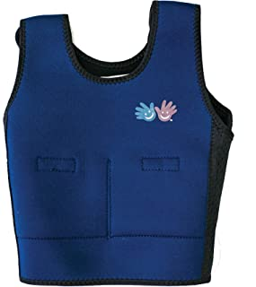 Weighted Compression Vest in Blue Size: Small