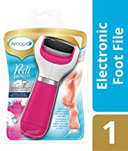 Amope Pedi Perfect Electronic Dry Foot File-Callus Remover With Diamond Crystals, Pink, Extra Coarse, In-home Pedicure Removes Hard & Dead Skin For Baby Smooth Feet, Batteries Included