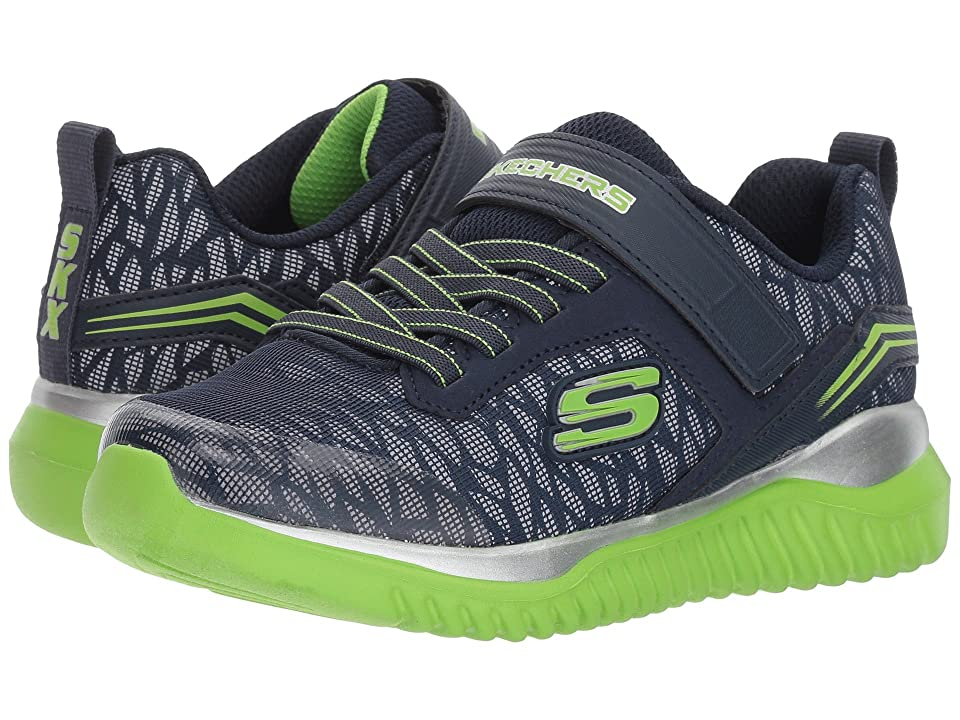 SKECHERS KIDS Turboshift (Little Kid/Big Kid) (Navy/Lime) Boys Shoes