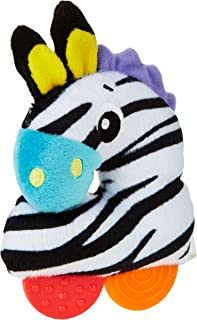 Playgro Zebra Loop Rattle Stuffed Animal Soft Toys [Multicolor, Pg0182719], Multi Color