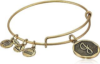 Initial Expandable Wire Bangle Bracelet, 2.5