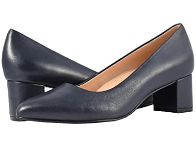 Trotters Kari (Navy Soft Nappa Leather) Women