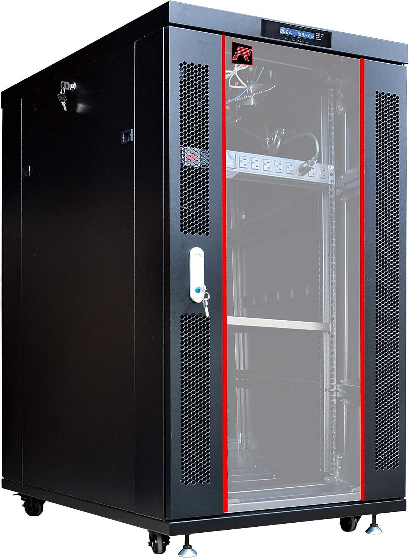 18U 39in Depth Floor Standing Server Rack Cabinet(24
