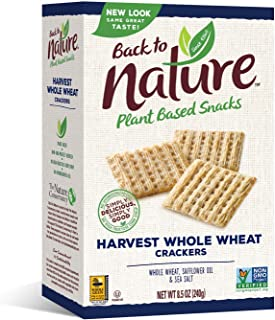 Back to Nature Crackers, Non-GMO Harvest Whole Wheat, 8.5 Ounce (Packaging May Vary)