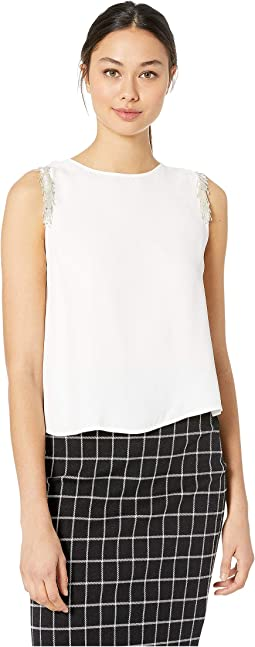 Happy Days Embellished Shoulder Tank Top